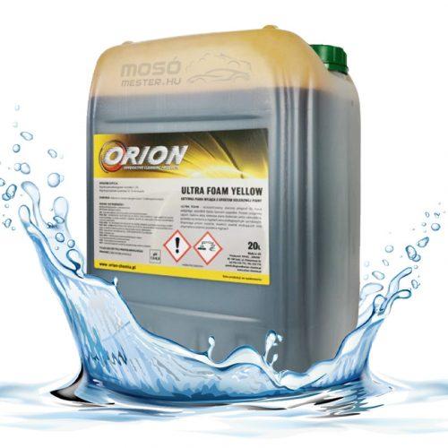 V-80 Foam Yellow ( 22 Kg) Illatos, UV. sárga színű hab az érintkezés nélküli autómosáshoz. Ph 12-13,9