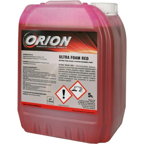 Ultra Foam Red ( 5 L ) piros színű, semleges aktív hab.