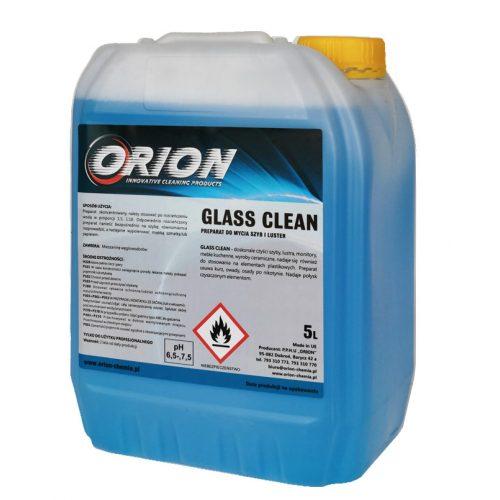 Glass Clean ( 5 L ) ÜVEGTISZTÍTÓ KONCENTRÁLT ABLAK- ÉS TÜKÖRTISZTÍTÓ FOLYADÉK.